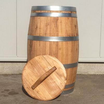 Kastanje houten portvat 110 liter, met los deksel, geolied met liijnolie