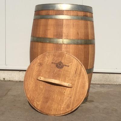Wijnvat eiken 225 liter met los deksel, geolied met lijnolie