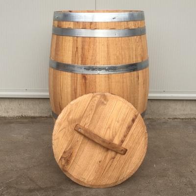 Portvat kastanje 160 liter met los deksel, geolied
