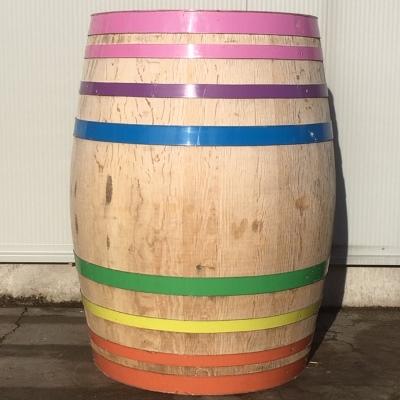 Eiken wijnvat 300 liter regenboog