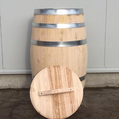 Kastanje houten portvat 110 liter met los deksel