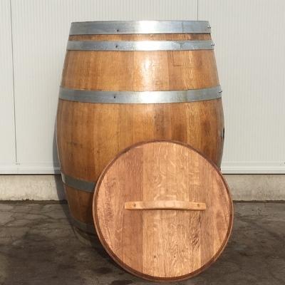 Wijnvat eiken 300 liter met los deksel geolied